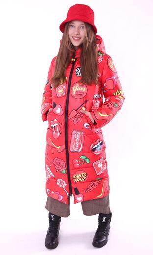 "Straight down jacket for female Boo&Bon ""Cherry """