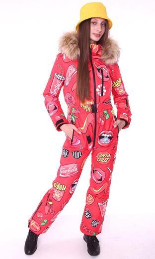 "Winter jumpsuit for female Boo&Bon ""Cherry"""