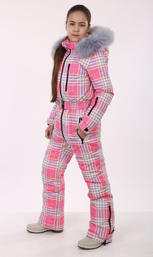 """Winter jumpsuit for female Boo&Bon """"Pink cell"""""""