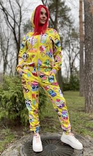 "Спортивный костюм женский Boo&Bon ""Нутелла желтый"" арт.СкЖэНж-1"