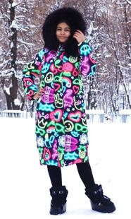"Oversized down jacket for teenagers Boo&Bon ""Neon"""