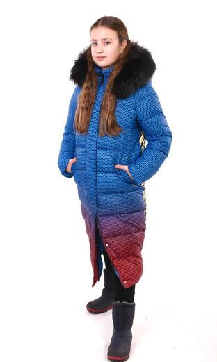 "Oversized down jacket for teenagers Boo&Bon ""Cartoon gradient"""