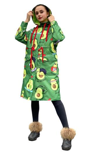 "Women's raincoat Boo&Bon ""Avocado"""