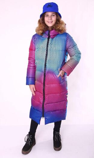 """Straight down jacket for female Boo&Bon """"Lucky gradient """""""