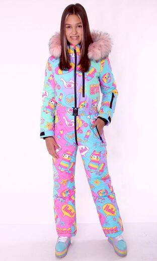 """Winter jumpsuit for female Boo&Bon """"Lamas at the Resort"""""""
