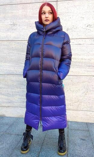 """Straight down jacket for female Boo&Bon """"Space"""""""