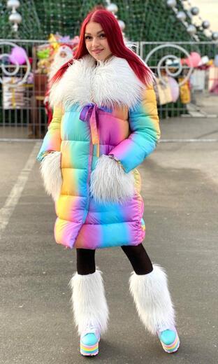 "Women's  down jacket with a collar Boo & Bon ""Alpaca"""