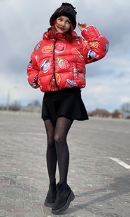 "Women's marshmallow jacket Boo&Bon ""Cherry"""